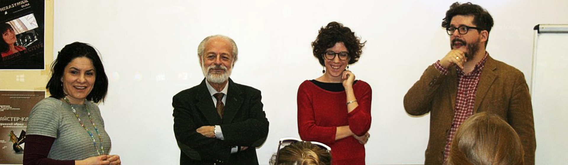 Італійські професори на кафедрі медіакомунікацій
